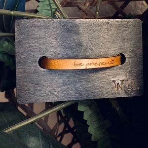 Jewelry - Leather Bracelet handmade custom quote